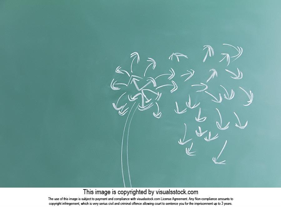 Absence ; Autumn ; Blackboard ; Chalk ; Classroom