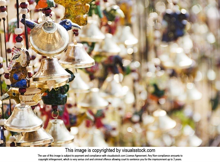Surajkund Crafts Fair Stall Hanging Bells Wind-chi