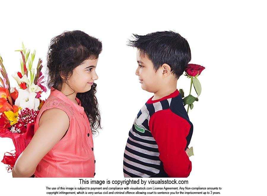 Indian Kids love Couple Flower surprise Bouquet Fl