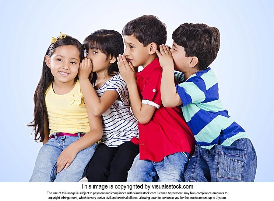 Whispering Ear: Children Friends Gossiping