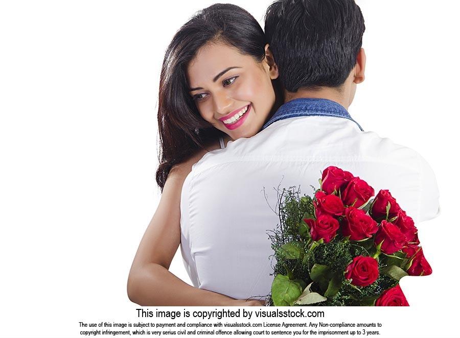 Couple Valentines Day Hug Flower