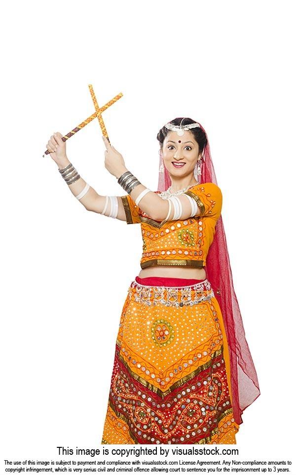 Rajasthani Woman Navaratri Dandiya Dance