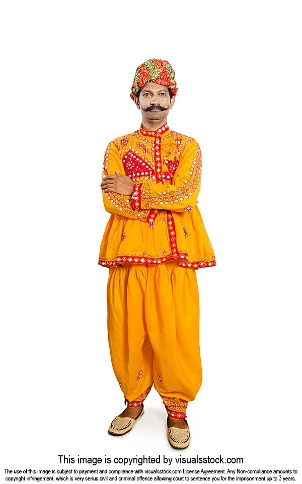 Gujrati Man Standing Arms crossed