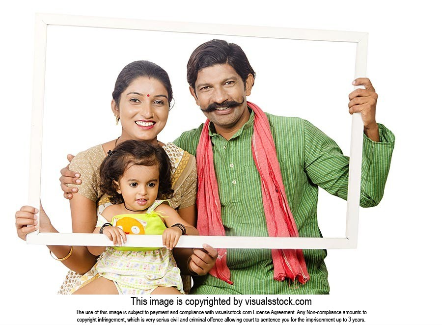Indian Rural Family Picture Frame