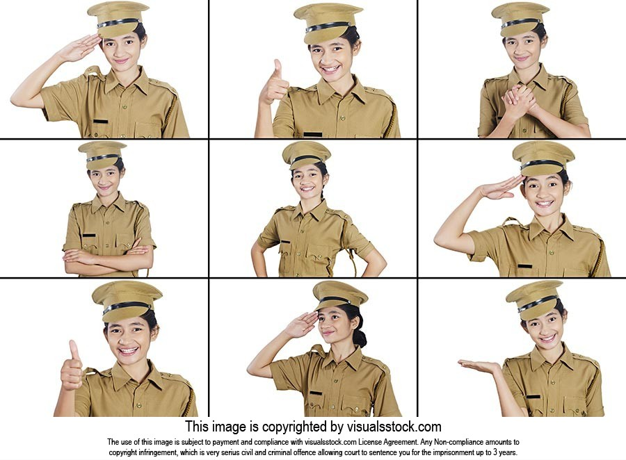 Montage Photo Indian Police Girl