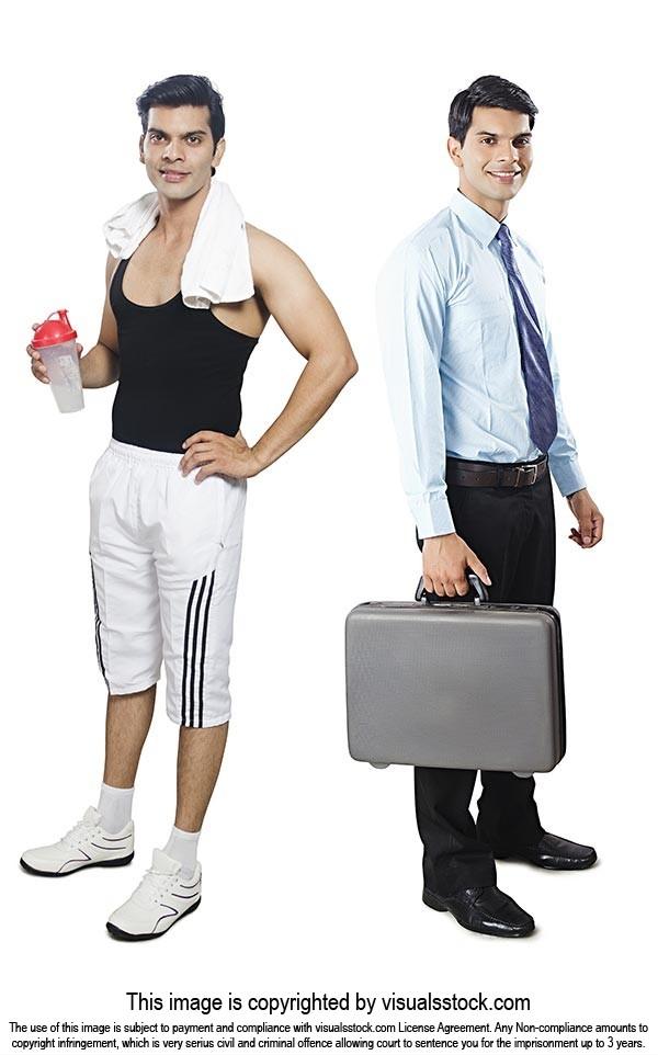 Comparison Businessman Gym Man Multiple Personalit