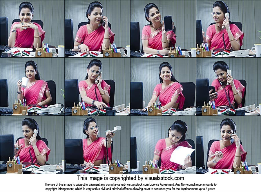 Montage Photo Businesswoman Office