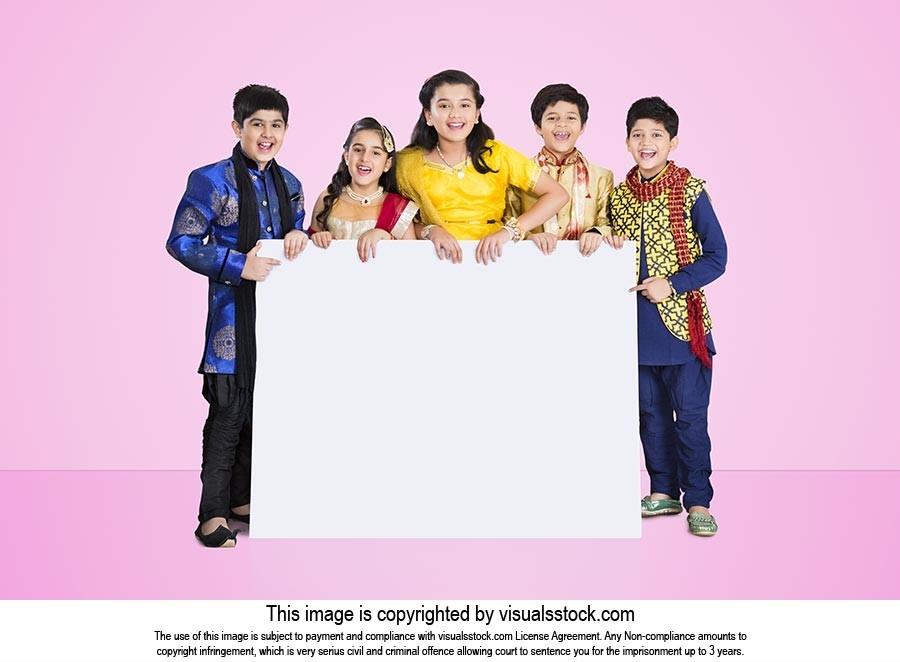 Group Kids Friends Diwali Message Board