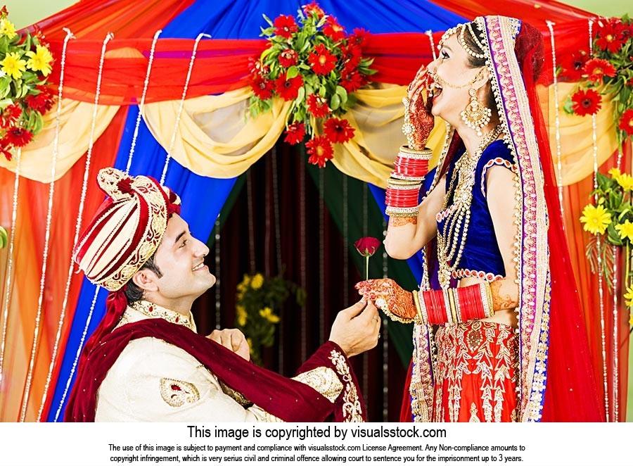Groom Proposing Bride Wedding
