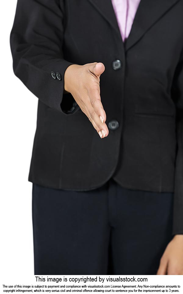 Businesswoman Offering Handshake Welcome