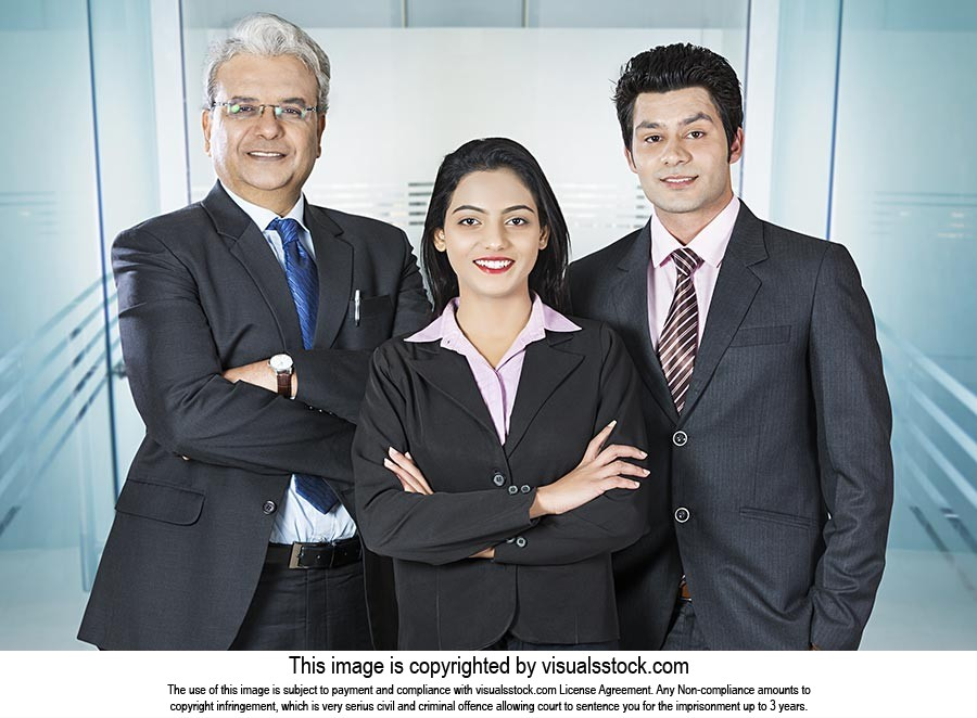 Business Partners Colleagues Team Standing Office
