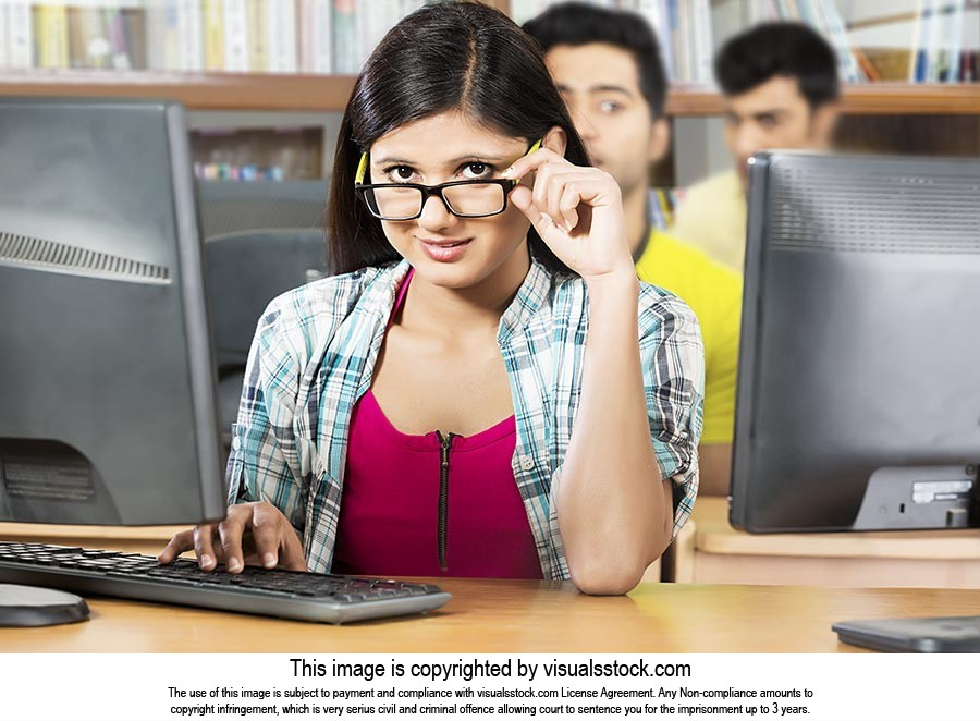 Young woman College Student Computer Education