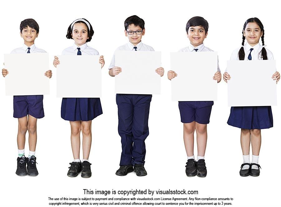 School Kids Students Friends Showing Message Board