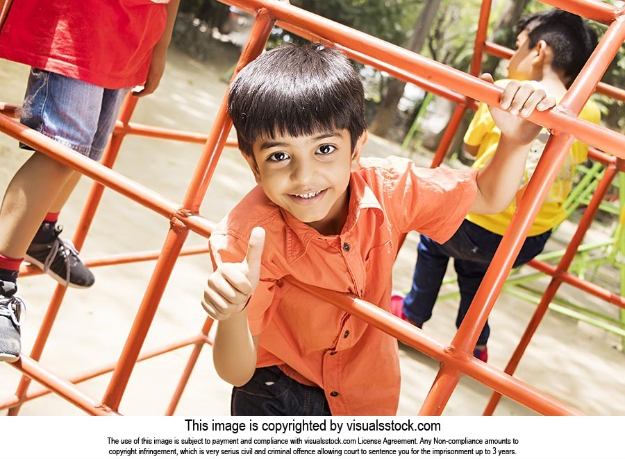 Kids Boy Play Ground Playing Jhula Fun Thumbsup