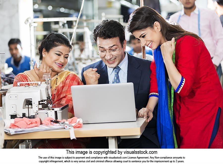 Indian Employees Tailor s and Manager Sewing Works