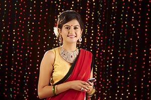Ladies Diwali Text messaging Phone