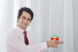 Indian Business Salesperson man Holding Hands Dumm