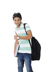1 Indian Young Man College Student Showing Thumbs