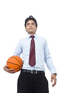 Attitude 1 Indian Young Businessman Sports Player