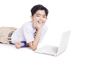School Boy Student Laptop Studying Education E-Lea