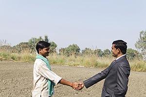 Businessman Farmer Rural Farm Handshake