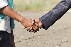 Businessman Farmer Farm Handshake