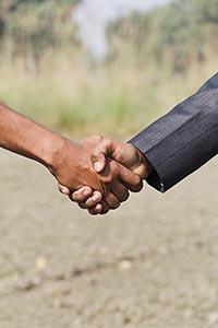 Businessman Farmer Farm Shaking Hand