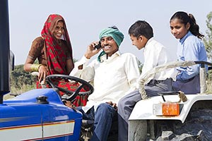Farmer Tractor Talking Phone Family Field