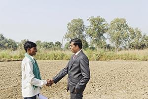 Farmer Businessman Farm Shaking Hands