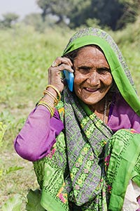Rural Senior Woman Talking Phone