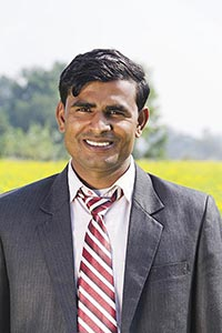 Indian Businessman Farm Standing