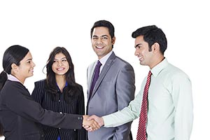 Business Partners Introducing Handshake