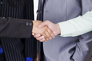 Business Partners Consultants Shaking Hands