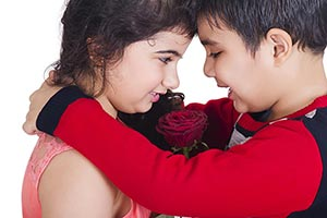Indian Beautiful kids Couple love Romance