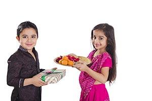Indian Kids Brother Sister Raksha Bandhan Festival
