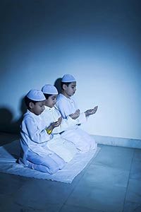 Children Namaz Praying God Muslim Religion Id Mila