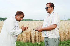 2 Indian rural farmer worker Joined Hands giving m