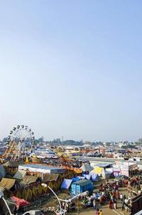 Amusement Park ; Blue Sky ; Color Image ; Copyspac