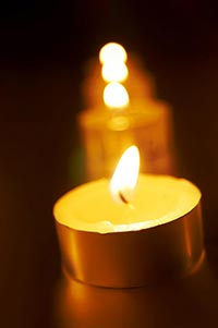 Black Background ; Candles ; Celebrations ; Close-