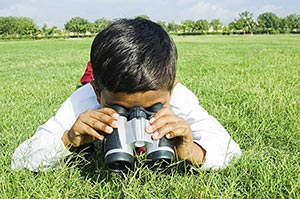1 Person Only ; Binoculars ; Boys ; Carefree ; Clo