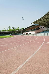 Sports Racing Track Line Stadium No People