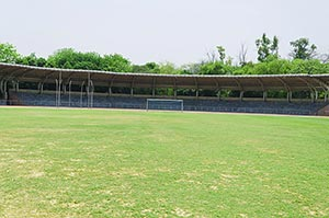 Football Ground Park Stadium Sports Game Nobody