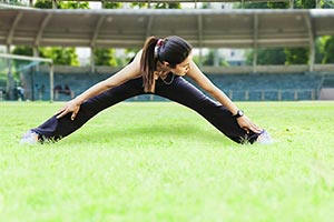 Sports Woman Play Ground Fitness Exercise Work Out