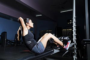 Sports Woman Gym Fitness Exercise Sit-ups Work-Out