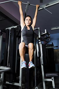 Sports Woman Gym Fitness Exercise Pull-Ups