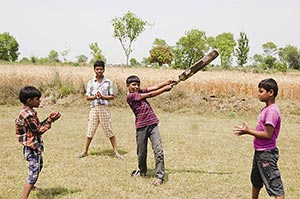 3-5 People ; Action ; Bat ; Batsman ; Boys ; Boys