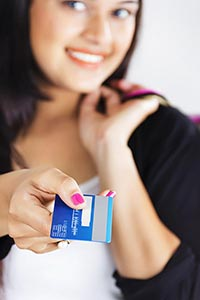 Woman Giving Credit card