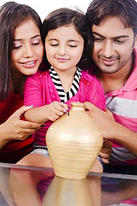 Parents Saving Money Piggybank future Education Da