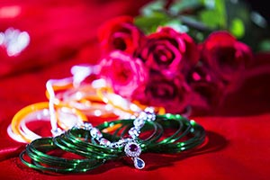 Indian Wedding Jewelry Necklace Bangles