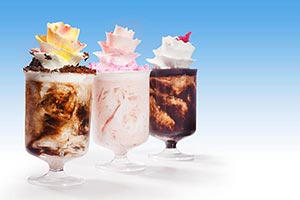 Delicious Variation Ice Cream Glass Nobody Summer